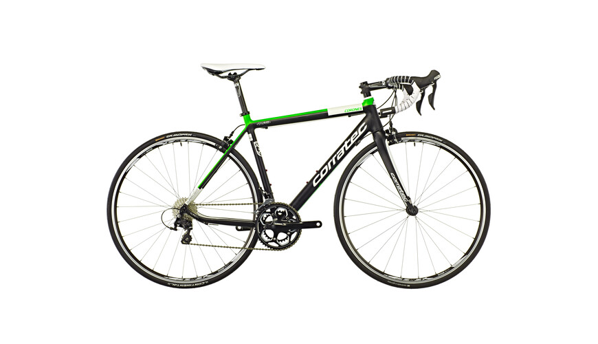 Corratec Corones 105 soft black matt/neon green/white